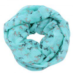 Spring and Autumn Women's Fashion Horse Print Viscose Scarf -