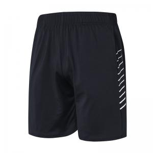 Hommes Sport Fitness Yoga Shorts noirs -
