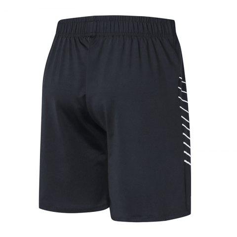 Hommes Sport Fitness Yoga Shorts noirs