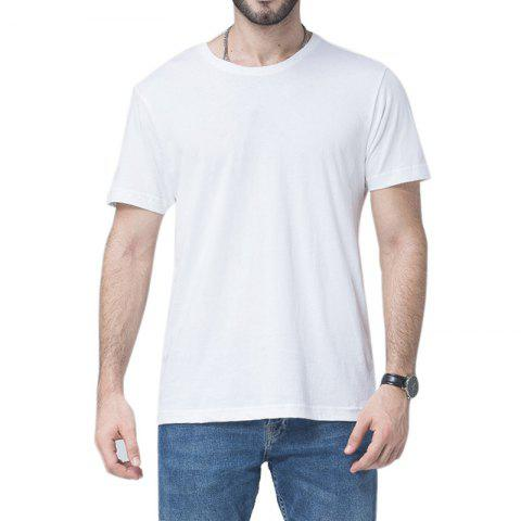 Fancy Men Soild Short Sleeve Basic T-shirt