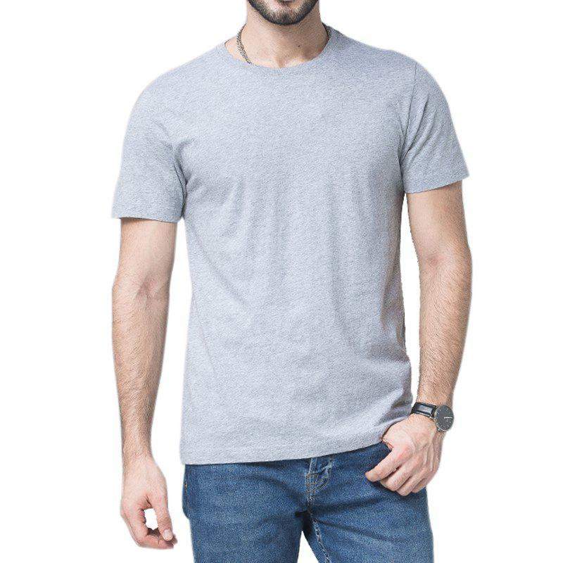 Chic Men Soild Short Sleeve Basic T-shirt
