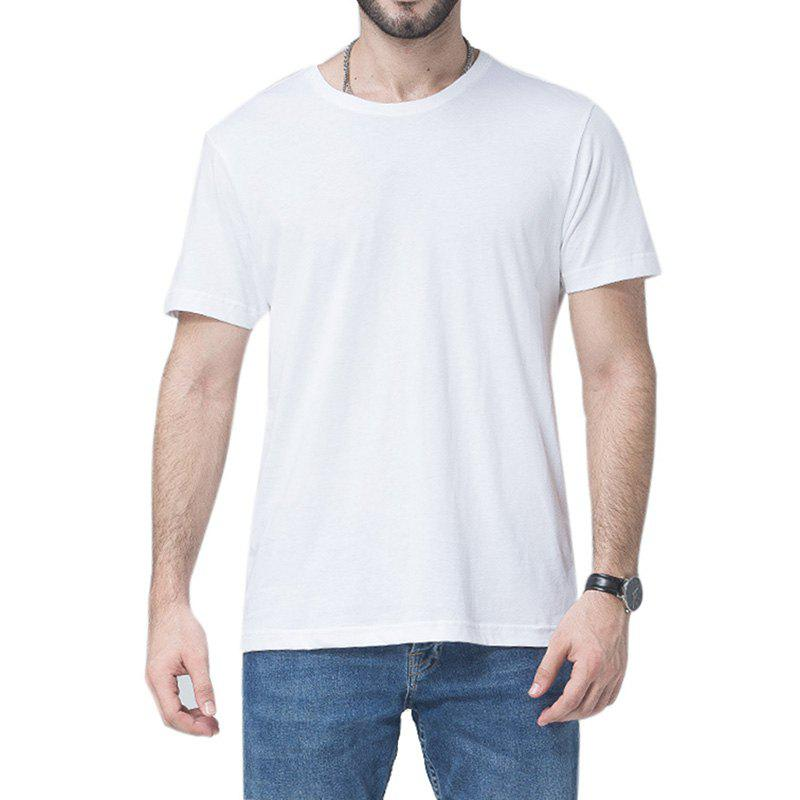New Men Soild Short Sleeve Basic T-shirt