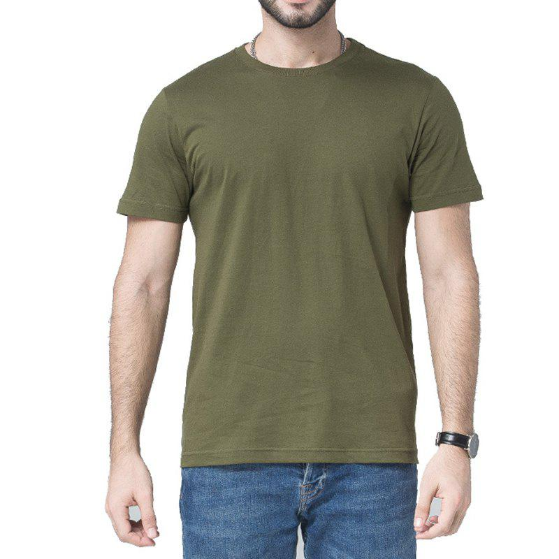 Hot Men Soild Short Sleeve Basic T-shirt