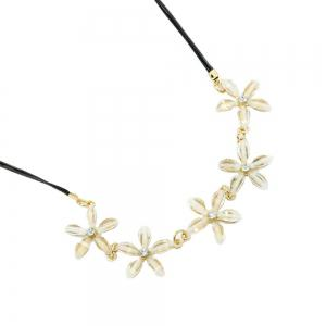 Fashion Jewelry Gardenia Flower with Five Petals Ladies Necklace Chain Clavicle -