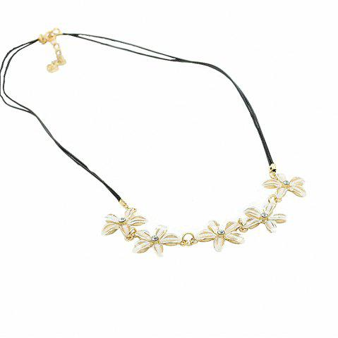 Store Fashion Jewelry Gardenia Flower with Five Petals Ladies Necklace Chain Clavicle
