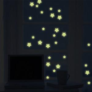 Fashion Room Decorated with Pentagram Shaped Noctilucent Wall Sticker -
