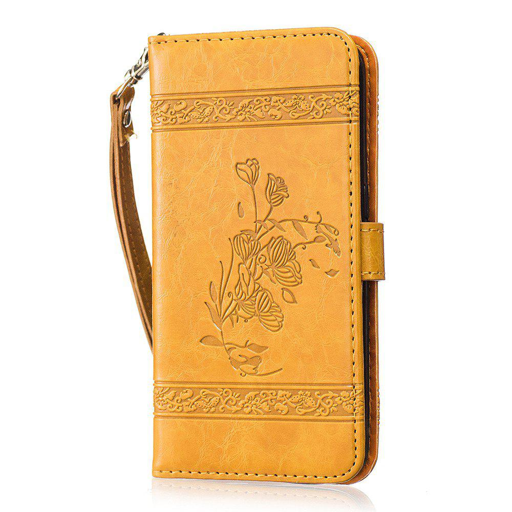 Discount Genuine Quality Retro Style Oil Wax Flower Pattern Flip PU Leather Wallet Case for Samsung Galaxy S7