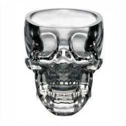 Clear Heavy Base Glass Skull Face Drinking Mugs Glass 75ml -