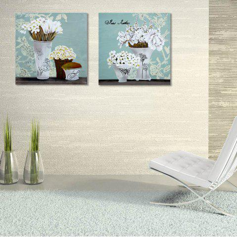 Chic W177 Flowers Unframed Canvas Prints for Home Decorations 2 PCS