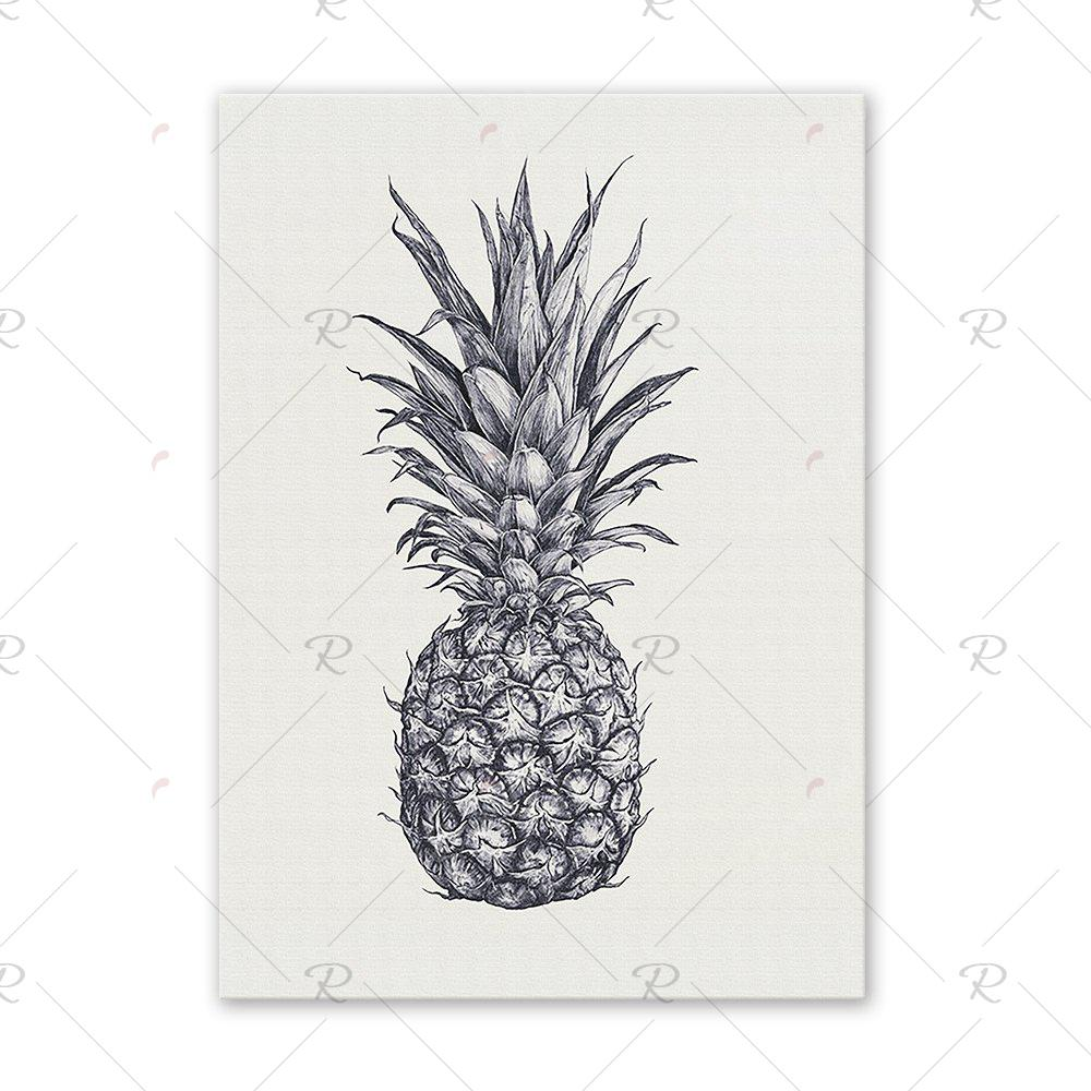 Shops W196 Pineapple Unframed Wall Art Canvas Prints for Home Decoration