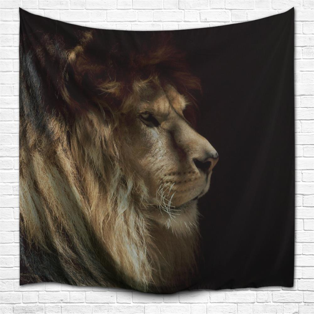 Outfit Lion 3D Printing Home Wall Hanging Tapestry for Decoration