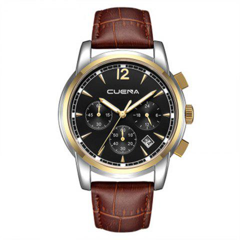 Unique Men Sports Retro Design Leather Band Quartz Wrist Watch