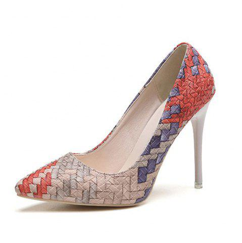 Online Spring and Summer New Pointed Elegant High-Heeled Shoes