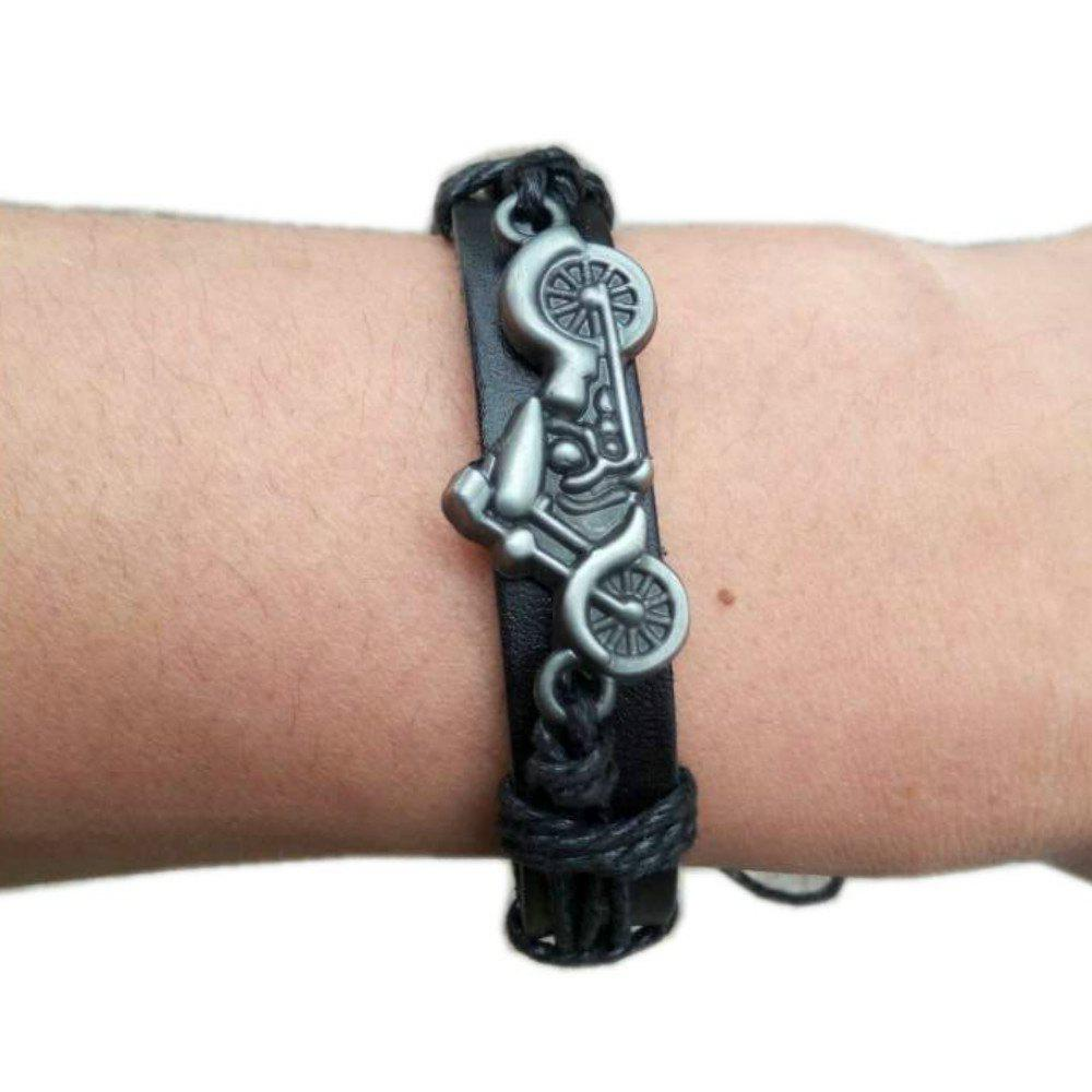 Buy Motorcycle Motorcycle Leather Accessories Leather Bracelet Jewelry For Men