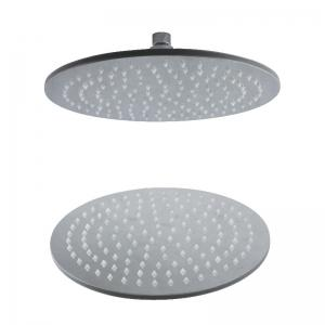 CP-200YL SUS304 Stainless Steel 8-INCH Round Mirror LED Light Shower Head -