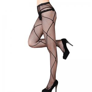 Ultra-thin Plus Size Cutout Net Tights Wire Small Mesh Lace Pantyhose Stockings -