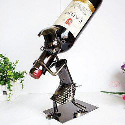 People Collection Wine Rack Moving Iron Ornaments -