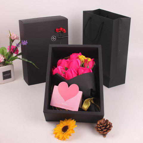 Affordable Mother'S Day Gift Black 11 Roses Soap Bouquet Gift Box