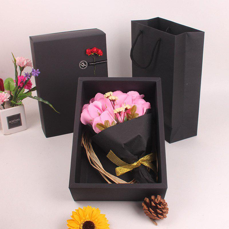 Store Mother'S Day Gift Black 11 Roses Soap Bouquet Gift Box