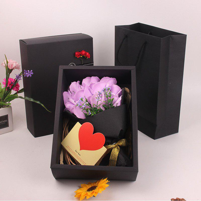 Sale Mother'S Day Gift Black 11 Roses Soap Bouquet Gift Box