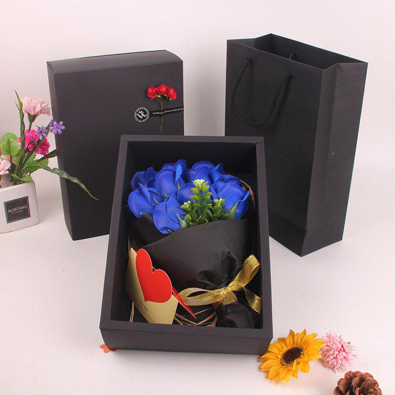 Discount Mother'S Day Gift Black 11 Roses Soap Bouquet Gift Box