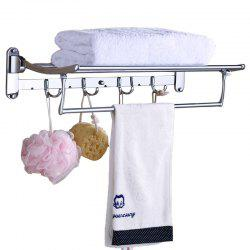 Bathroom Storage Rack Stainless Steel Collapsible Towel Hanger -