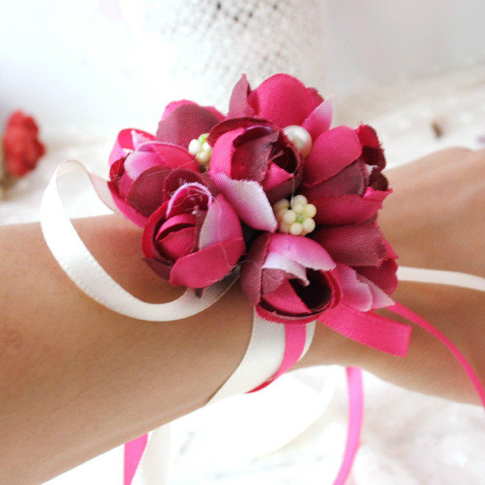 Unique Wrist  Family Silk Hand Decorative Flower