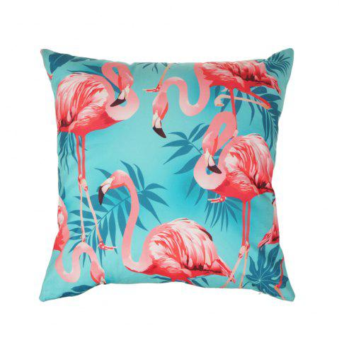 Store Flower and Bird Pattern Colorful  Pillow Cover