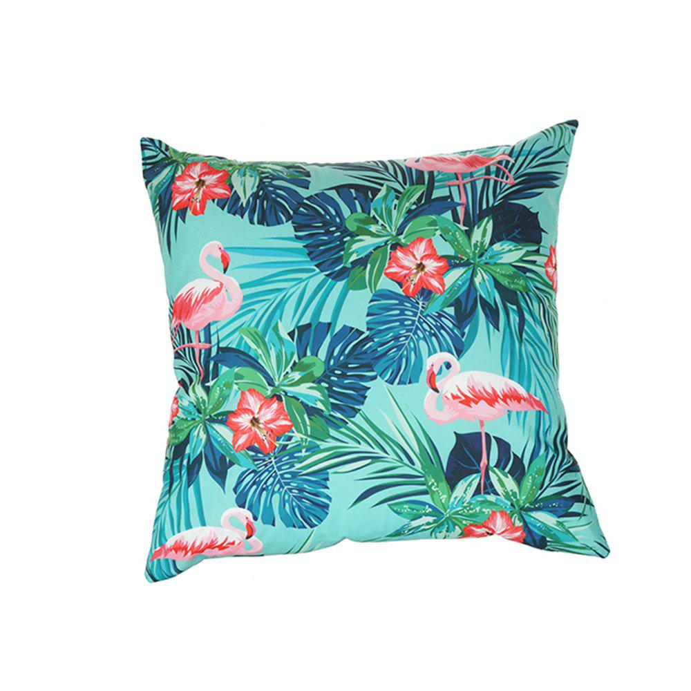 Fancy Flower and Bird Pattern Colorful  Pillow Cover
