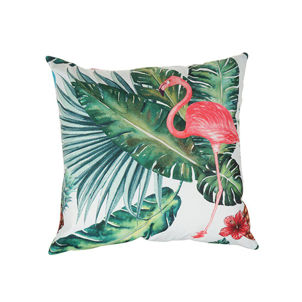Buy Flower and Bird Pattern Colorful  Pillow Cover