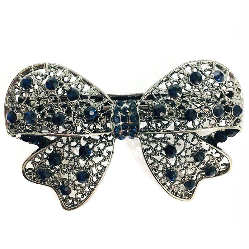 Unique New Popular Hair Ornament Butterfly with Gold Diamond Hair Clip