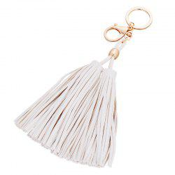 PU Tassel Car Key Buckle Girls Bag Pendant Ornaments Key Chain -