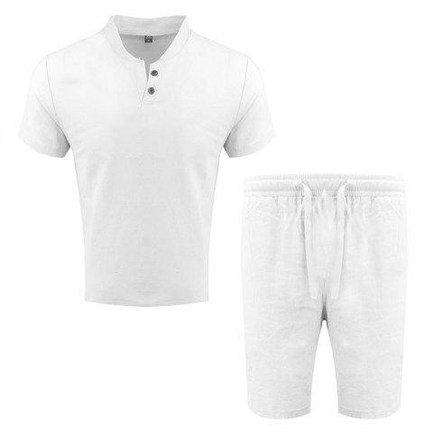Sale Men's Fashion Suit Casual Short Sleeve Two-piece