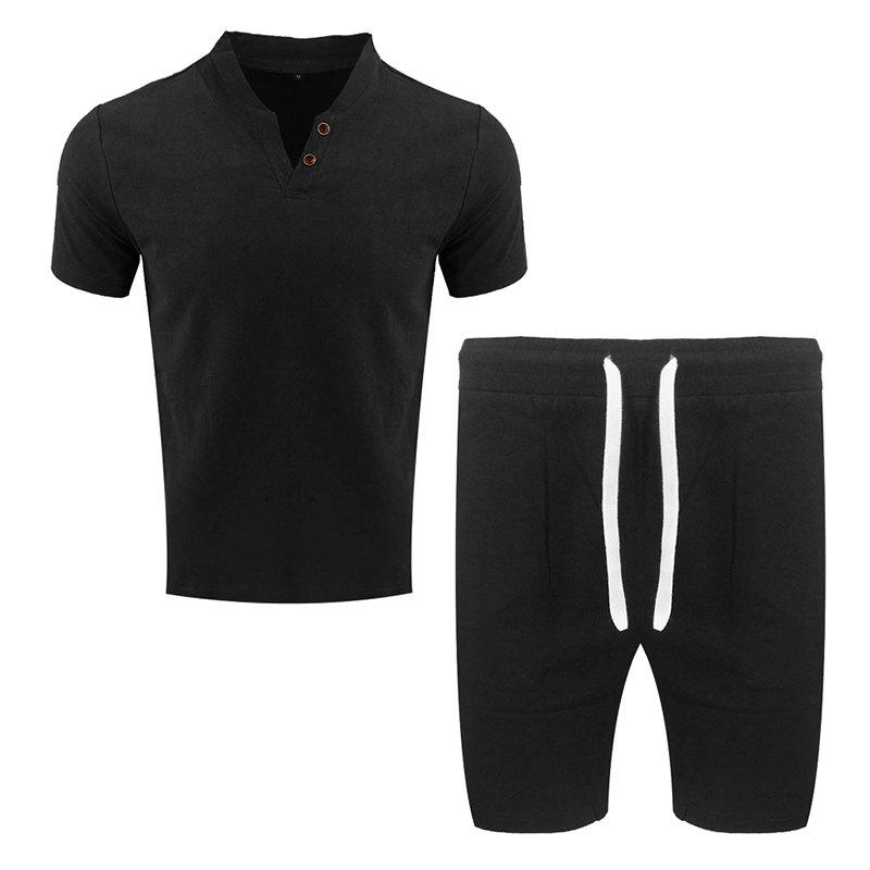 Chic Men's Fashion Suit Casual Short Sleeve Two-piece