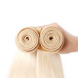 Brazilian Silky Straight Light Blonde 613 Human Hair Weave Bundles Extension -
