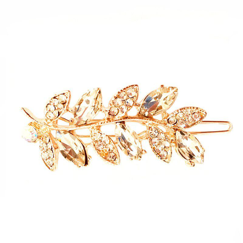 Trendy New Fashion Hair Accessories Leaf Diamond Alloy Hairpin