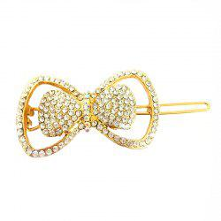 Новый темперамент Wild Diamond Bow Delicate Hair Clip -