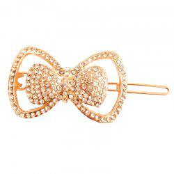 New Temperament Wild Diamond Bow Pince à cheveux délicate -
