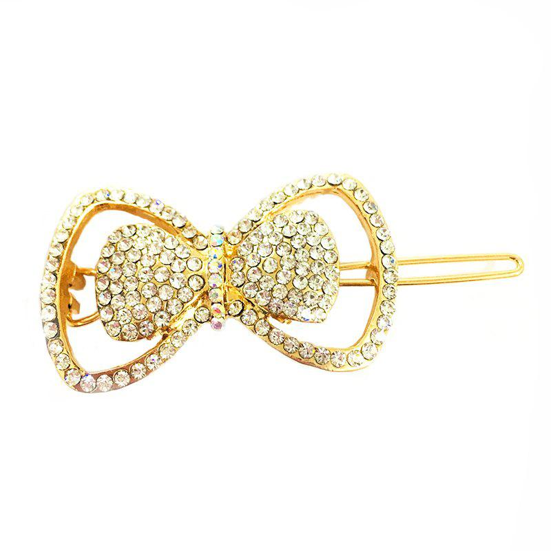 Новый темперамент Wild Diamond Bow Delicate Hair Clip