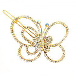 New Fashion Korean Headdress Simple and Elegant Diamond Butterfly Hair Clip -