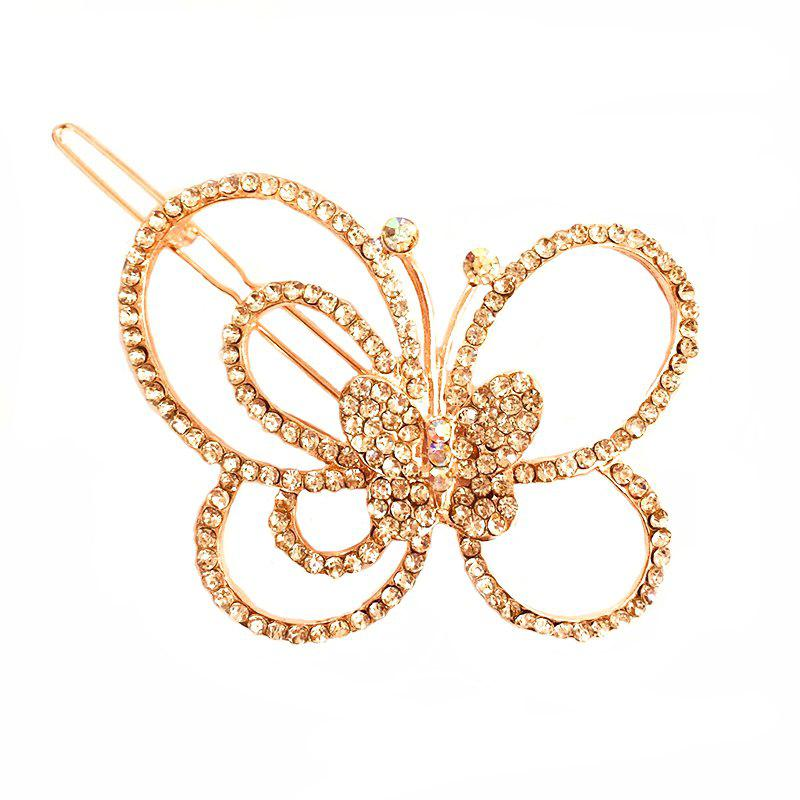 Chic New Fashion Korean Headdress Simple and Elegant Diamond Butterfly Hair Clip