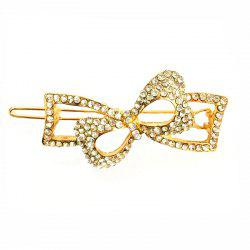 New Korean Fashion Temperament Ladies Wild Diamond Bow Hairpin -