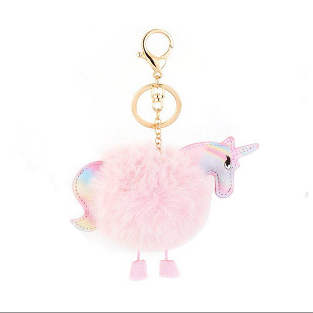 Outfit Alloy Fur Unique Keychain Cute Animal Novelty  Keychains Leather