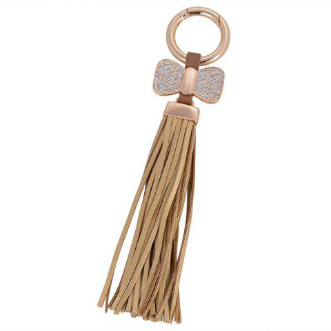 Affordable Creative Key Bow Leather Tassels Keychain Car Bag Pendant for Women