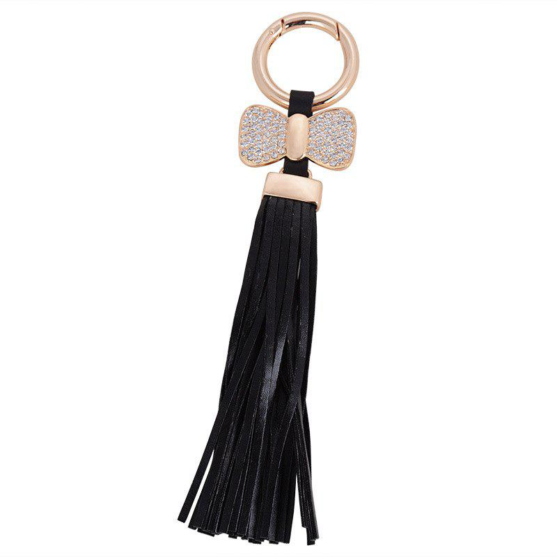 Cheap Creative Key Bow Leather Tassels Keychain Car Bag Pendant for Women