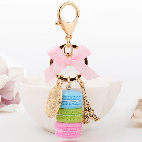 Latest Macaron Cake Eiffel Tower Keychain Bowknot Car Keyring Bag Purse Pendant