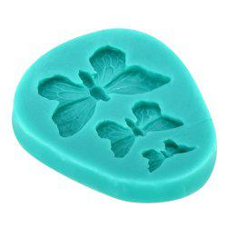 Three Butterfly Silicone Fondant Mold -
