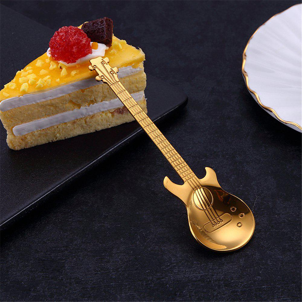 Best High Quality Creative Stainless Steel Guitar Coffee Spoon