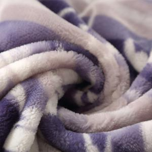 LOVO  Double Layers Super Soft and Durable Polyester Flannel Blanket 180X200CM -