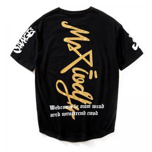 Мужчины Word Print Street Fashion T-shirt -
